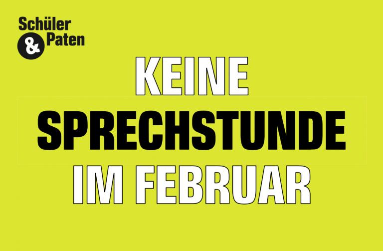 Keine Sprechstunde im Februar